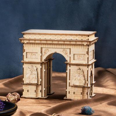 3D Holzpuzzle Modern