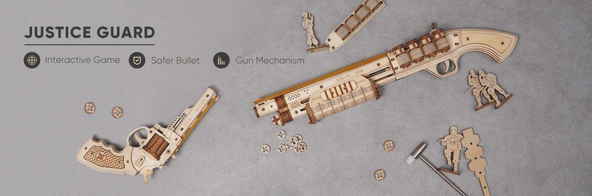 Mit diesen 3D Holzwaffen kannst du am Ende...