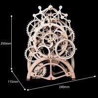 3D Holzpuzzle Pendel Uhr LK501 shop.holzpuzzle-3d.de Bild 4