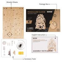 3D Holzpuzzle Pendel Uhr LK501 shop.holzpuzzle-3d.de Bild 5