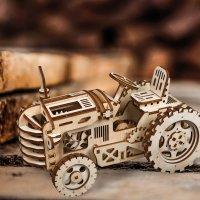 Holzpuzzle Traktor LK401 3D shop.holzpuzzle-3d.de Bild 4