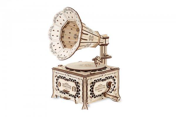 Eco Wood Art 3D Grammophone
