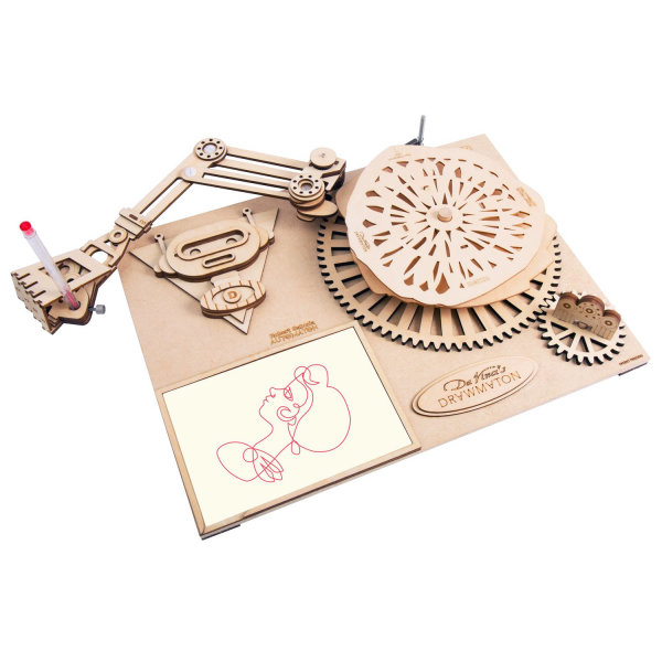 3D DA VINCIS Zeichenmaschine -DER ROBOTOR SD-003 40 cm Holz 92-teilig