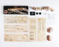 3D Holzpuzzle Schrotflinte Terminator M870 LQ501 shop.holzpuzzle-3d.de Bild 4