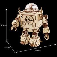 3D Holzpuzzle Steampunk-Roboter AM601 shop.holzpuzzle-3d.de Bild 5