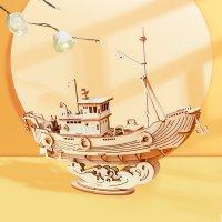 Fischereischiff 3D Holz TG308