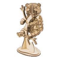 Panda  3D Holzpuzzle TG202 shop.holzpuzzle-3d.de Bild 4
