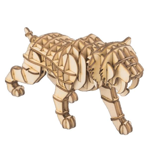 Säbelzahn Tiger  3D HolzpuzzleTG204