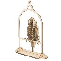 Papagei  3D Holzpuzzle TG253 shop.holzpuzzle-3d.de Bild 4