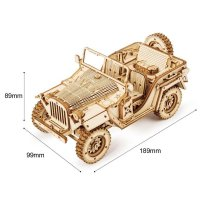 US ARMY JEEP 3D Holzpuzzle MC701