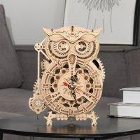 Eulen 3D  Pendel Uhr LK503 shop.holzpuzzle-3d.de Bild 4