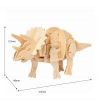 Triceratops SOUND GESTEUERT  3D Holzpuzzle