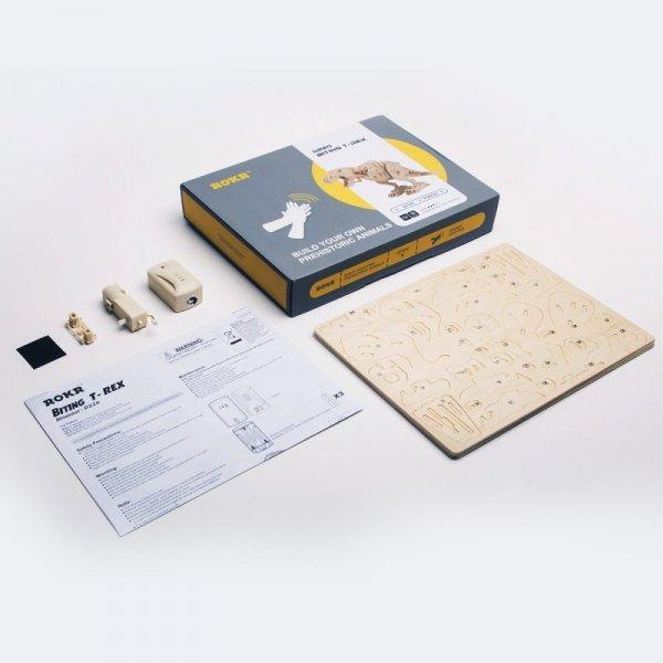 T-REX BEISSEND SOUND GESTEUERT  3D Holzpuzzle