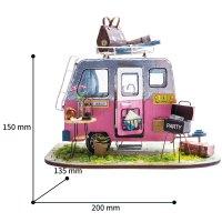 AM49 FARBIGE WEIHNACHTS-SPIELUHR shop.holzpuzzle-3d.de Bild 5